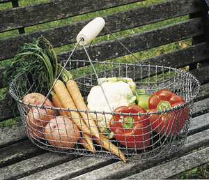 Vegetable Harvest Basket Steel Basket Kinsman Garden