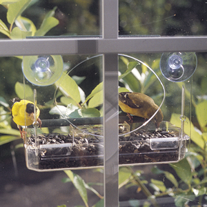 3 SIDED WINDOW BIRD FEEDER