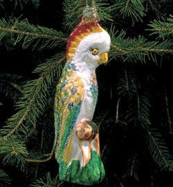 WHITE PARROT ORNAMENT