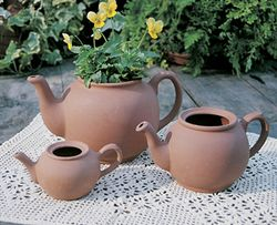 MEDIUM ENGLISH TEAPOT PLANTER