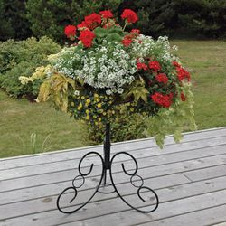 ORNATE IRONWORK PATIO STAND