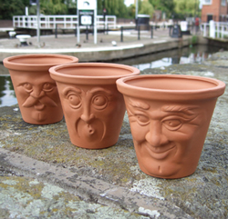 OLD MAN FACE POT