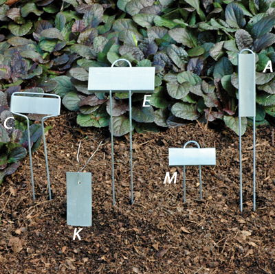 Hairpin Style Zinc Plant Markers (A)