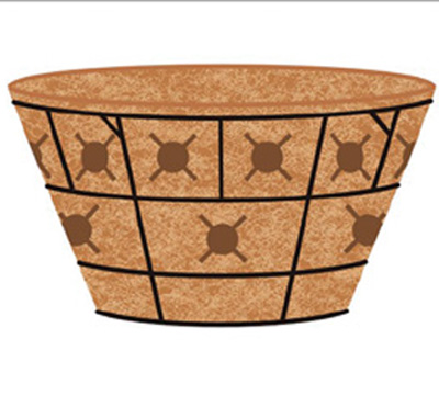 16 DOUBLE TIER BASKET PLANTER & LINER SET