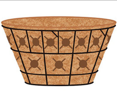 20 DOUBLE TIER BASKET PLANTER & LINER SET