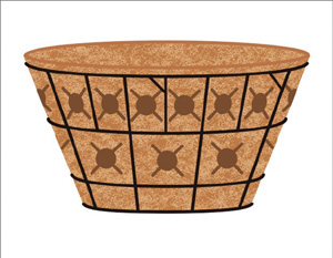  20 DOUBLE TIER BASKET PLANTER &amp; LINER SET