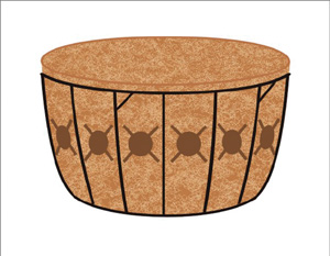16 SINGLE TIER BASKET PLANTER &amp; LINER SET