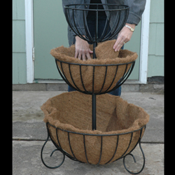 3 TIERED PLANTER-SET OF COCO LINERS