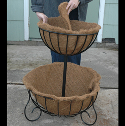 2 TIERED PLANTER -SET OF COCO LINERS