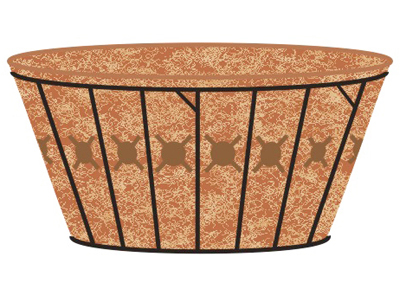  20 SINGLE TIER BASKET PLANTER &amp; LINER SET