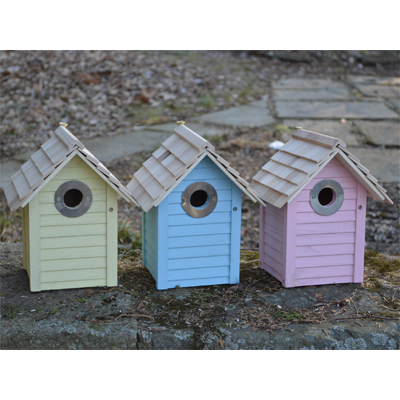 Beach Hut Birdhouse Set Of 3 Mixed Colors