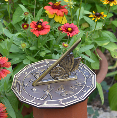 Solid Brass Butterfly Sundial (Without Pedestal)