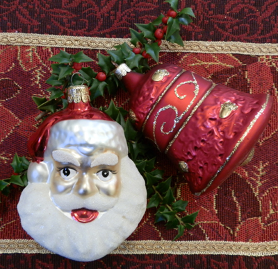 Santa Head and Bell Ornament Collection
