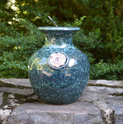 Green Marble Down Under Pot