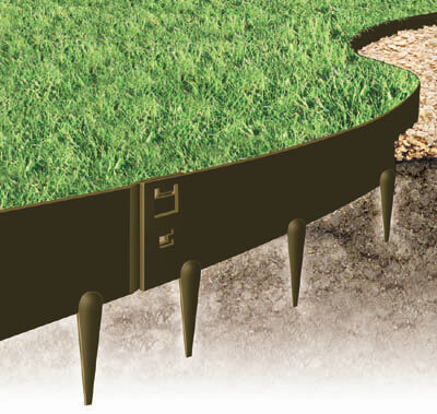 "EverEdge Heavy Duty Lawn Edging-4"" Brown"